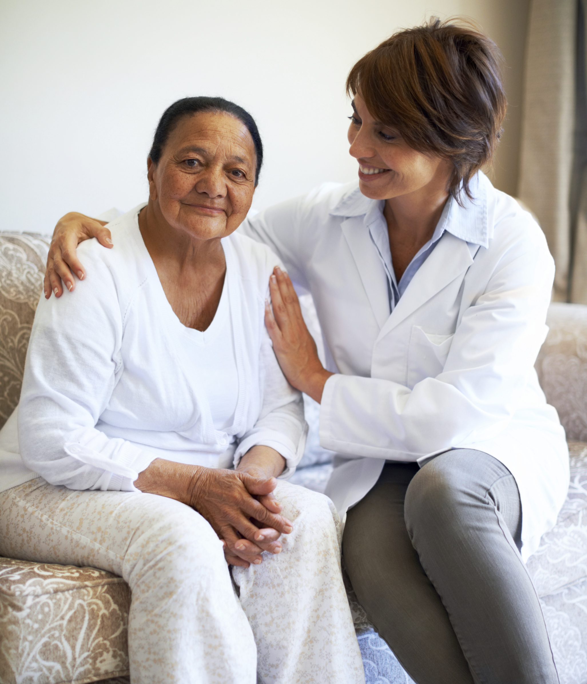 Client With Care Aide Nurse